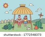 cute children are eating...   Shutterstock .eps vector #1772548373