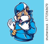 funky chipmunk with necklace... | Shutterstock .eps vector #1772563670