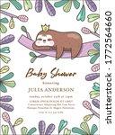 baby shower invitation card... | Shutterstock .eps vector #1772564660