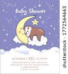 baby shower invitation card... | Shutterstock .eps vector #1772564663