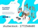 character plumber in uniform... | Shutterstock .eps vector #1772568680