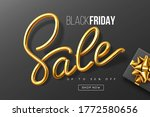 black friday typographic design.... | Shutterstock .eps vector #1772580656