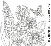 vector coloring botanical... | Shutterstock .eps vector #1772585843