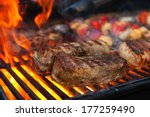 meat and vegetables char... | Shutterstock . vector #177259490