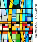 Modern Stained Glass Window...