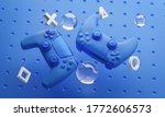 Digital Art Of Blue Gamepad...