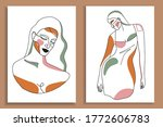 modern abstract faces with... | Shutterstock .eps vector #1772606783