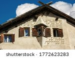 Closeup Of An Ancient House In...