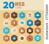 modern flat design web icons on ...