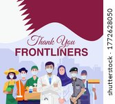 thank you frontliners. various... | Shutterstock .eps vector #1772628050