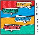 comic speech bubbles text style ...   Shutterstock .eps vector #1772635670