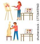 online art masterclass  vector...   Shutterstock .eps vector #1772645960