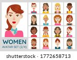 female avatar set. collection... | Shutterstock .eps vector #1772658713