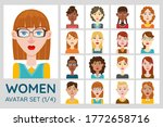 female avatar set. collection... | Shutterstock .eps vector #1772658716