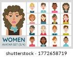 female avatar set. collection...   Shutterstock .eps vector #1772658719