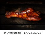 Grilled Chicken Leg In Barbecue ...