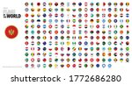 round shaped flags of the world.... | Shutterstock .eps vector #1772686280