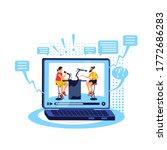 talk show online flat concept...   Shutterstock .eps vector #1772686283
