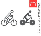 cycling line and glyph icon ... | Shutterstock .eps vector #1772689886