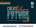 future stylish typography... | Shutterstock .eps vector #1772693549