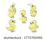 cute yellow color duck  vector...   Shutterstock .eps vector #1772702450