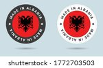 set of two albanian stickers.... | Shutterstock .eps vector #1772703503