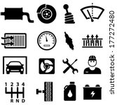 car repair shop and mechanic...   Shutterstock .eps vector #177272480