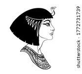 egyptian queen cleopatra... | Shutterstock .eps vector #1772731739