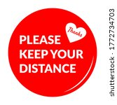 please keep your distance round ... | Shutterstock .eps vector #1772734703