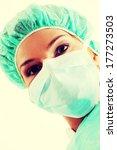 close up portrait of nurse or...   Shutterstock . vector #177273503