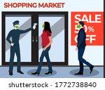 new normal entrance shop  ...   Shutterstock .eps vector #1772738840
