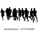 athletes sports men on running... | Shutterstock .eps vector #177276290