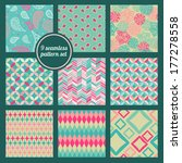 seamless patterns 9pcs set.... | Shutterstock .eps vector #177278558
