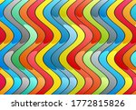 striped abstraction. wavy... | Shutterstock .eps vector #1772815826