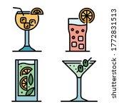 cocktail icons set. outline set ... | Shutterstock .eps vector #1772831513