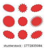 starburst red speech bubbles ...   Shutterstock .eps vector #1772835086