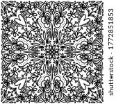 black and white pattern vector...   Shutterstock .eps vector #1772851853