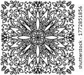 black and white pattern vector...   Shutterstock .eps vector #1772851856