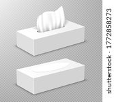 box with white paper napkins....   Shutterstock .eps vector #1772858273