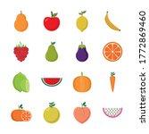 flat style icon set design ...   Shutterstock .eps vector #1772869460