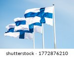 Three Finnish National Flags O...