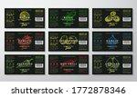 handcrafted sauce labels...   Shutterstock .eps vector #1772878346