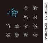 beautiful icons set. lotus...