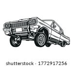 vintage concept of low rider... | Shutterstock .eps vector #1772917256