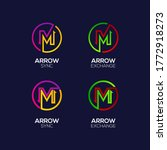 letter m logotype with arrows... | Shutterstock .eps vector #1772918273