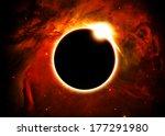 Solar Eclipse Above A Nebula ...