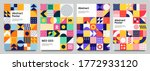 colorful neo geometric poster.... | Shutterstock . vector #1772933120