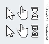 pixel cursors icons. mouse hand ... | Shutterstock . vector #1772961170
