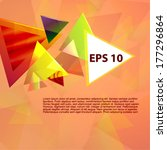 abstract triangle vector... | Shutterstock .eps vector #177296864