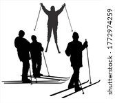 Vector Silhouettes Of Women...